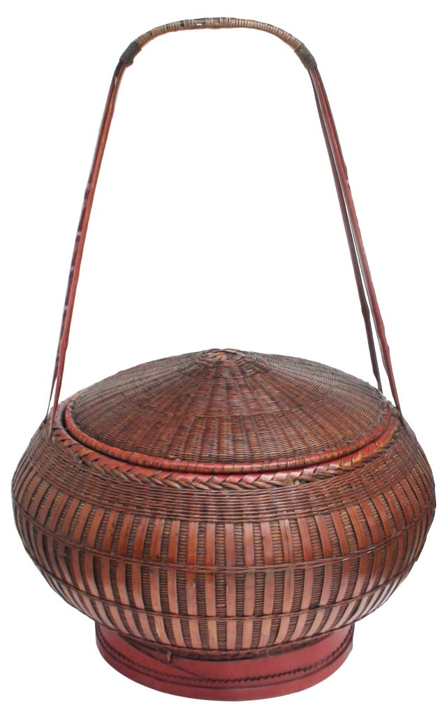 19th-C. Chinese Wedding Basket