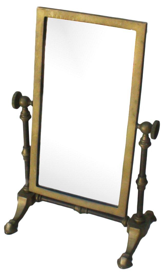 19th-C. Bronze Shaving Mirror
