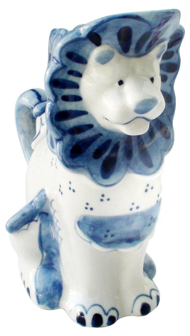 Porcelain Lion Pitcher