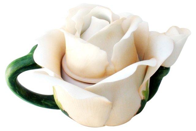 Porcelain Rose Music Box