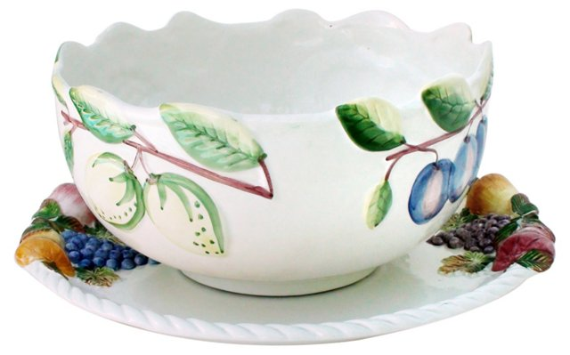 Jay Willfred Majolica Bowl & Underplate