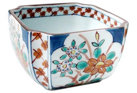 Signed Octogonal Imari Bowl