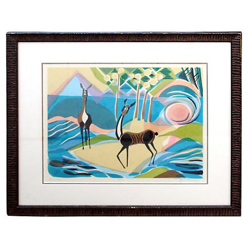 Editioned Woodblock Print by Stoller
