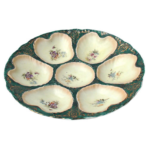 Victoria Carlsbad Majolica Oyster Plate