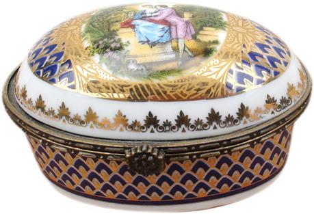 Bohemian Porcelain Lover's Box