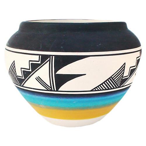 Large Towaoc Ute Ceramic Bowl By Reid