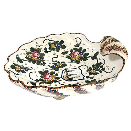 Italian Clamshell Platter, Signed