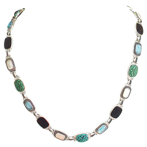 Scarab & Stones Necklace by Monet