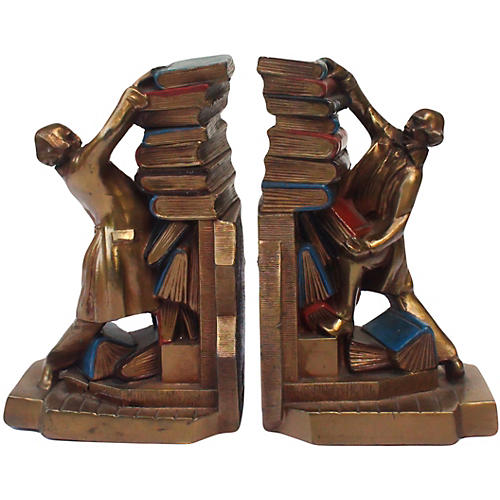 K & O Signed Booklovers Bookends