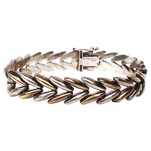 Italian Sterling Laurel Leaf Bracelet