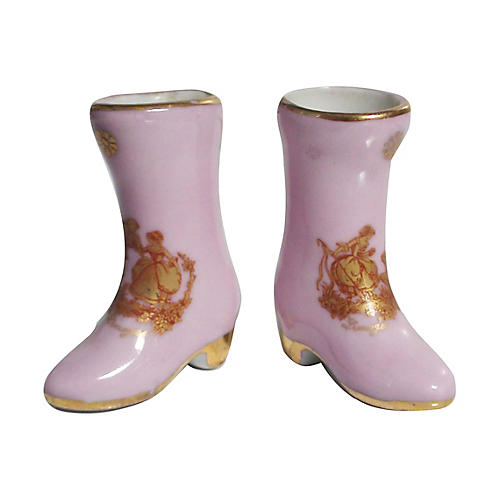 Limoges Miniature Boots, S/2