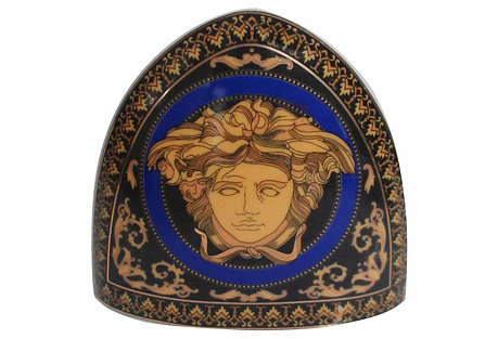 Limoges French Blue Medusa Clock