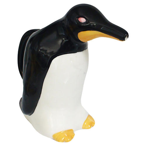 Majolica Penguin Water Jug