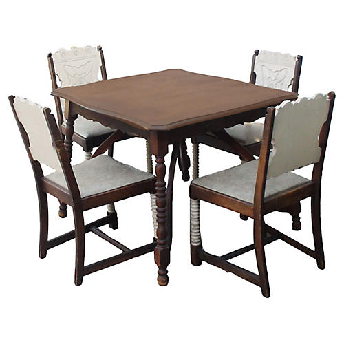 Turned Monterey Dining Set, 5-Pcs