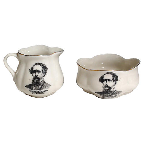 Charles Dickens Cream & Sugar