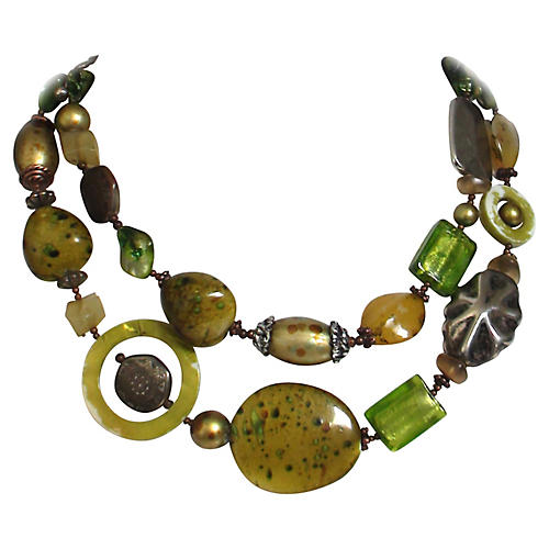 1960s Lucite & Silver Necklace