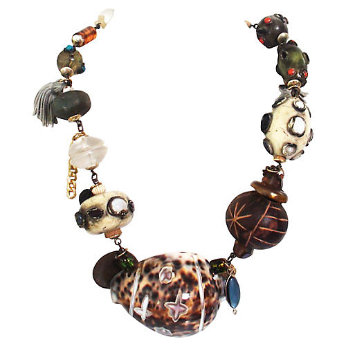 Tony Duquette-Style Shell Necklace