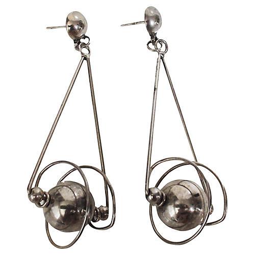 Spinning Planet Earrings