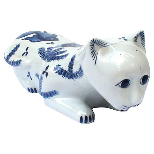 Porcelain Feline Headrest