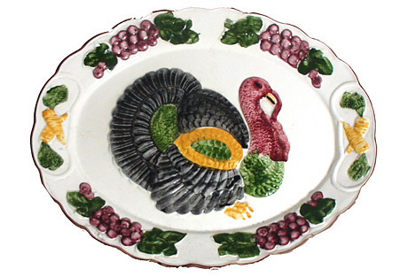 Large Laden Turkey Platter