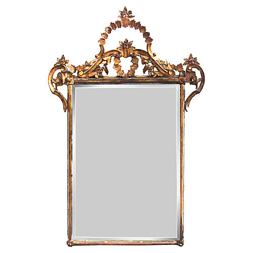 19th-C. Italian Giltwood Mirror
