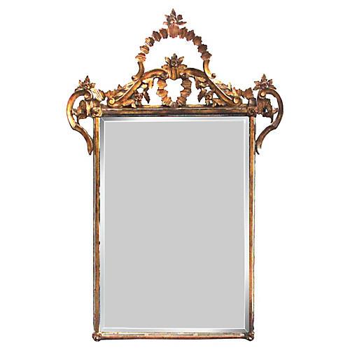 19th-C. Italian Giltwood Mirror