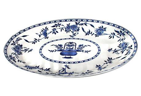 19th-C. Minton Delft Platter