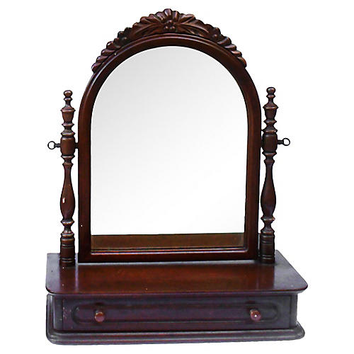Black Walnut Swinging Dresser Mirror
