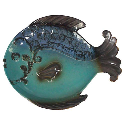 Italian Majolica Fish Platter