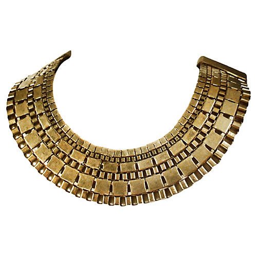 Half-Circle Brass Collar Necklace