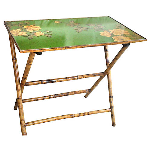 Lacquered Folding Bar Table