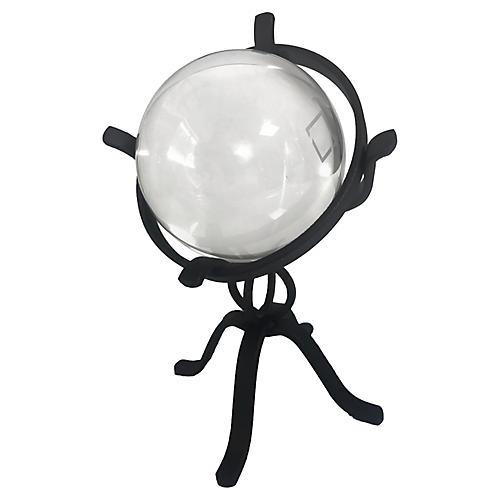 Crystal Ball On Globe Stand
