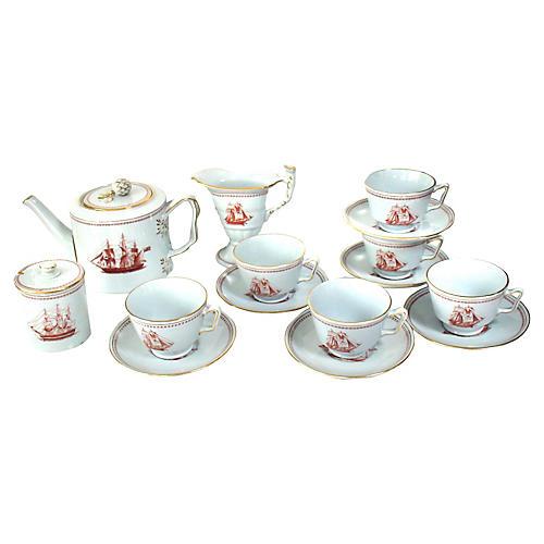 Spode Trade Winds Tea Set, 17-Pcs