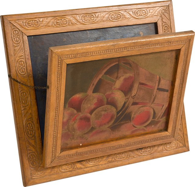Wall Mounted Oil Painting Magazine Rack