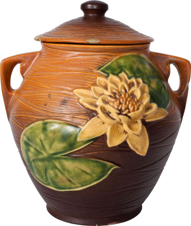 Roseville Water Lily Cookie Jar