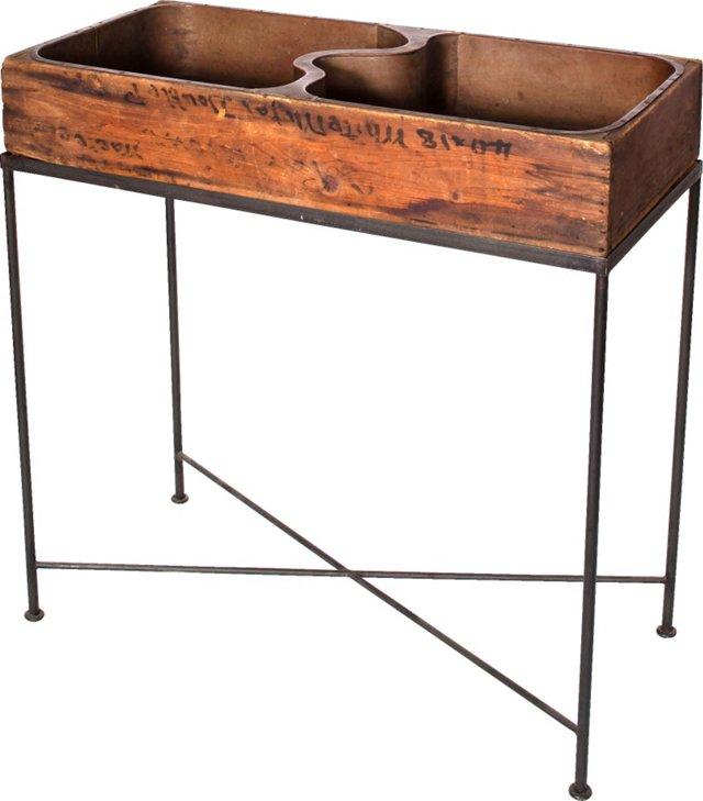 Copper & Wood High Sink