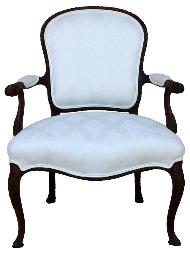 French  Carved Fauteuil