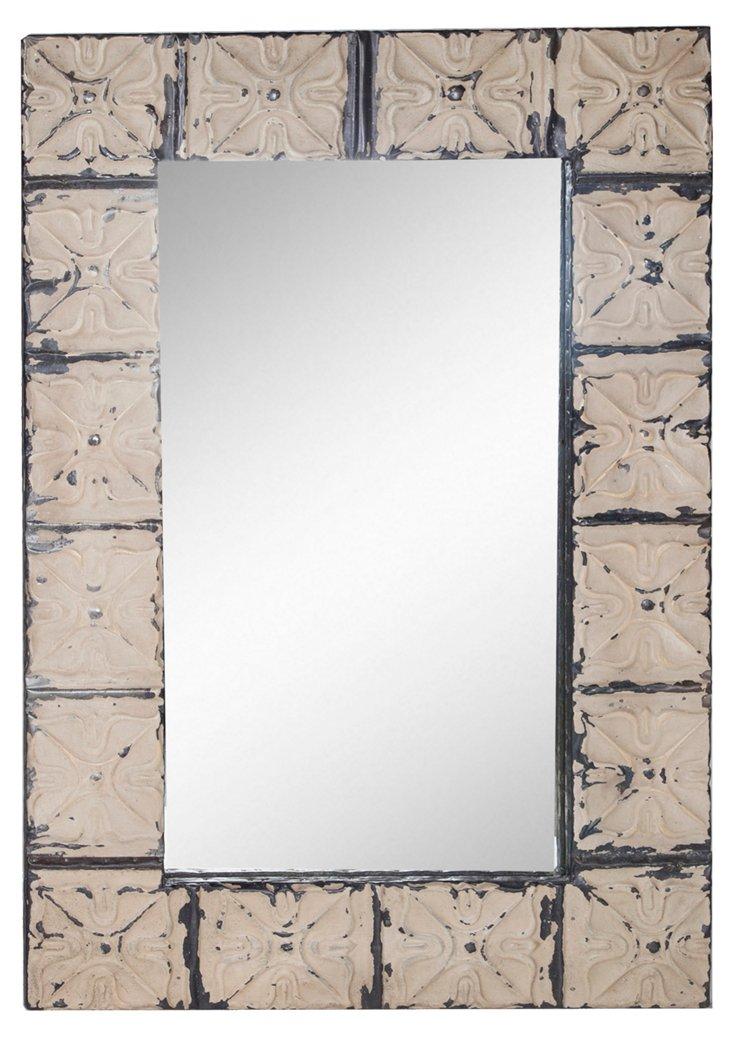 Tin Frame Mirror