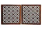 Carved Wood Screens, Pair
