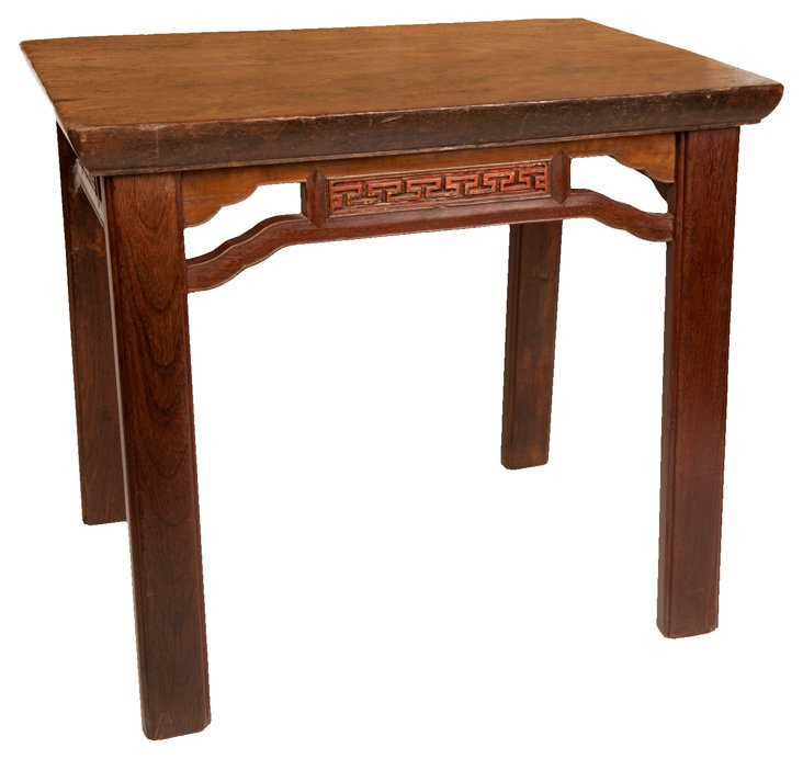 19th-C. Chinese Teili Wood Kitchen Table