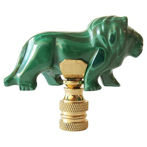 Malachite Lion Lamp Finial