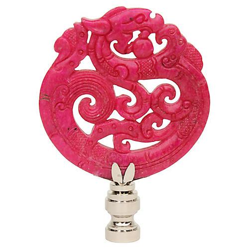 Coiled Dragon Lamp Finial