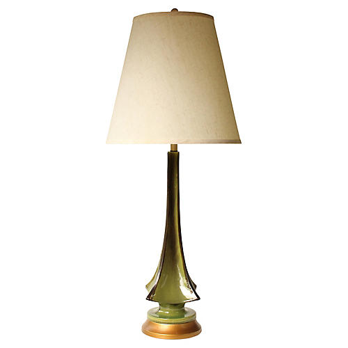 Evergreen Drip Glaze Table Lamp