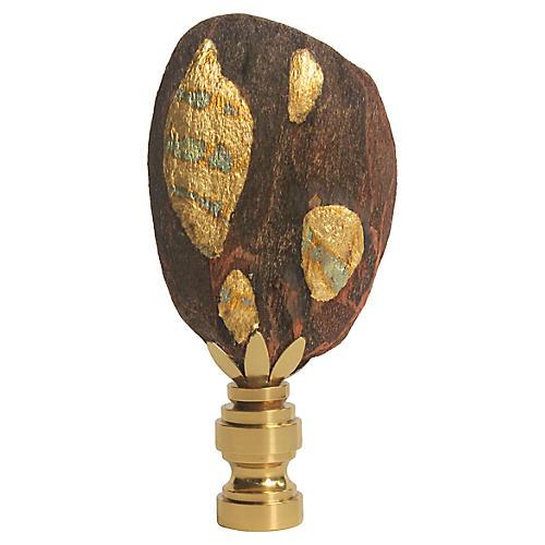 Freeform Gilded Driftwood Lamp Finial