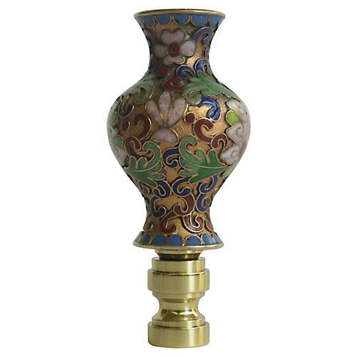 Champlevé Cloisonné Vase Lamp Finial