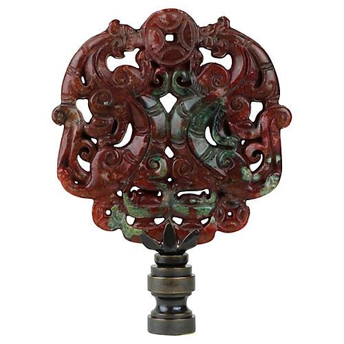 Asian Scroll Lamp Finial