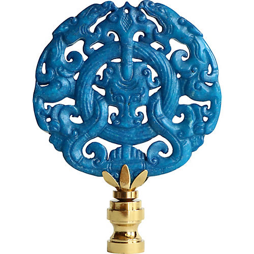 Chinese Dragon Scroll Lamp Finial