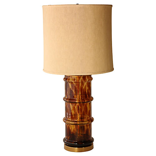 Paul Hanson Tortoiseshell Glass Lamp