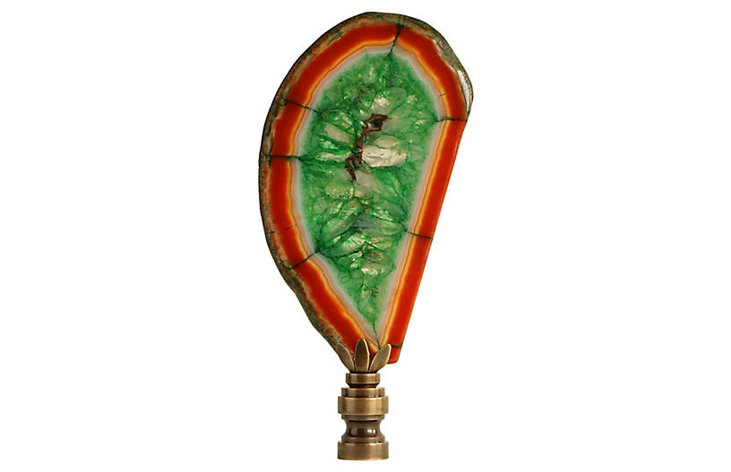 Agate Slice Lamp Finial