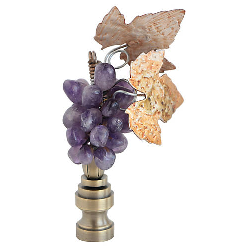Amethyst Grape Cluster Lamp Finial